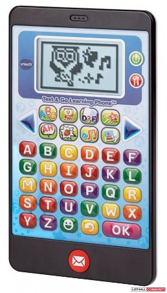 VTech Text & Go Learning Phone Ages 2-5, 3 AAs required, $24.99 MSRP