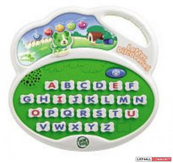 Leapfrog Letters Discovery Ages 2-5, 3 AAs required, $25 MSRP