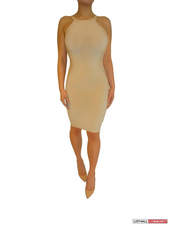 Jolie Bodycon Dress - Beige