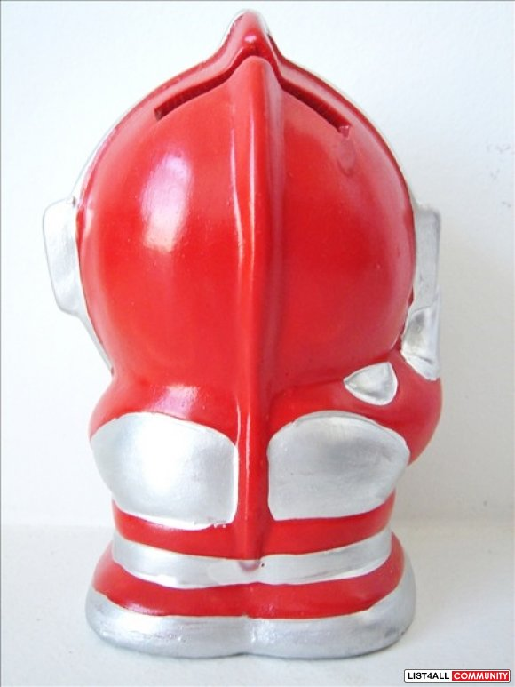 Ultraman Piggy Bank - Japanese Action Figure