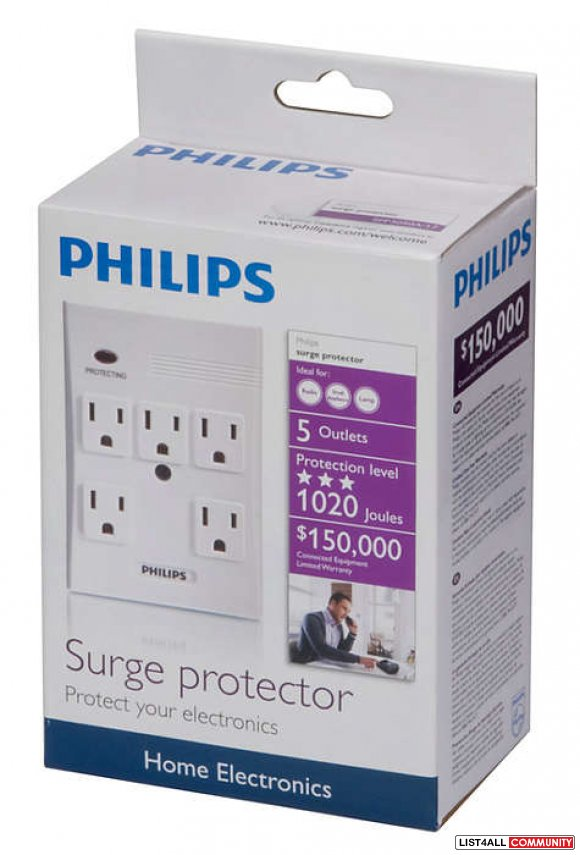 Philips Home Electronics Surge Protector (SPP3050A/17) - White