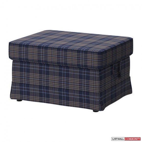 Replacement Cover for Ikea EKTORP Footstool - Rutna Multicolor