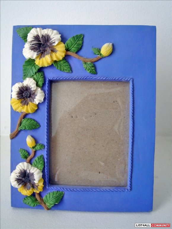 Purple Resin Picture Frame