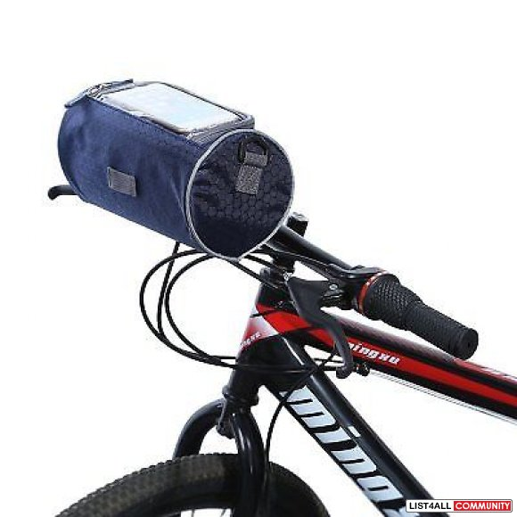 Bicycle Bike Front Handlebar Pouch Phone Bag - 3L - Blue Gray