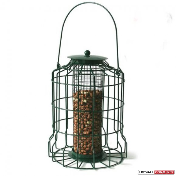 Squirrel Resistant Caged Wild Bird Peanut Nut Feeder