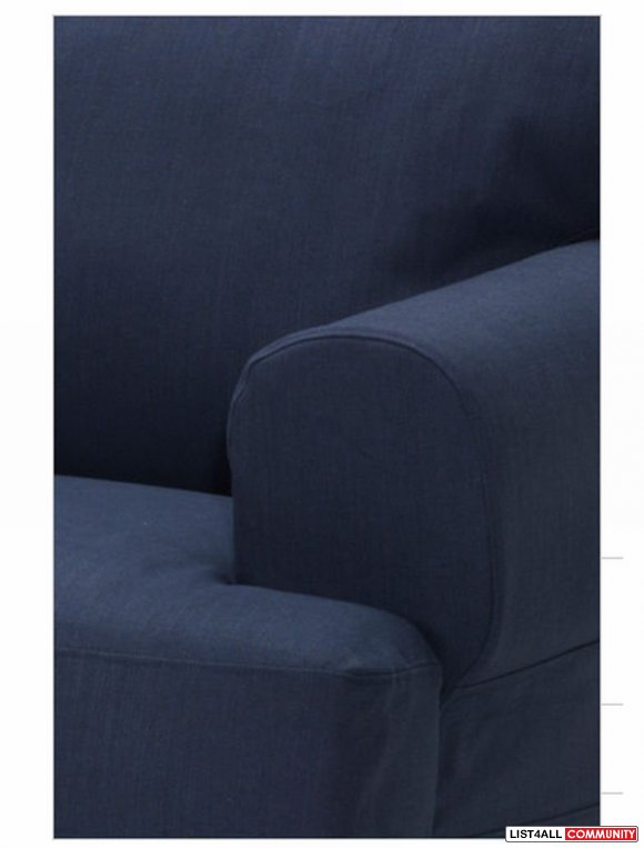 Replacement Cover for Ikea HOVAS Armchair - Kallvik Dark Blue