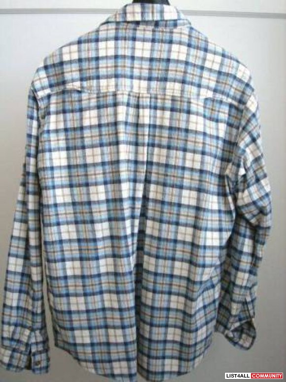 PRO CAM-FIS Pale Blue/White Plaid Flannel Shirt