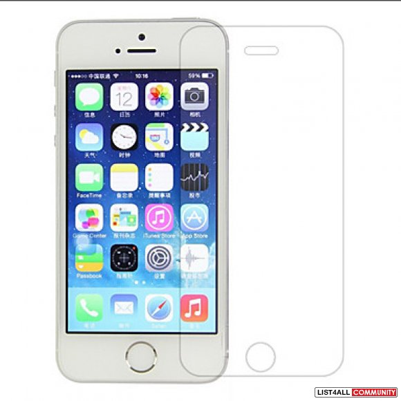 Tempered Glass Screen Protector for Apple iPhone 5/5S/SE