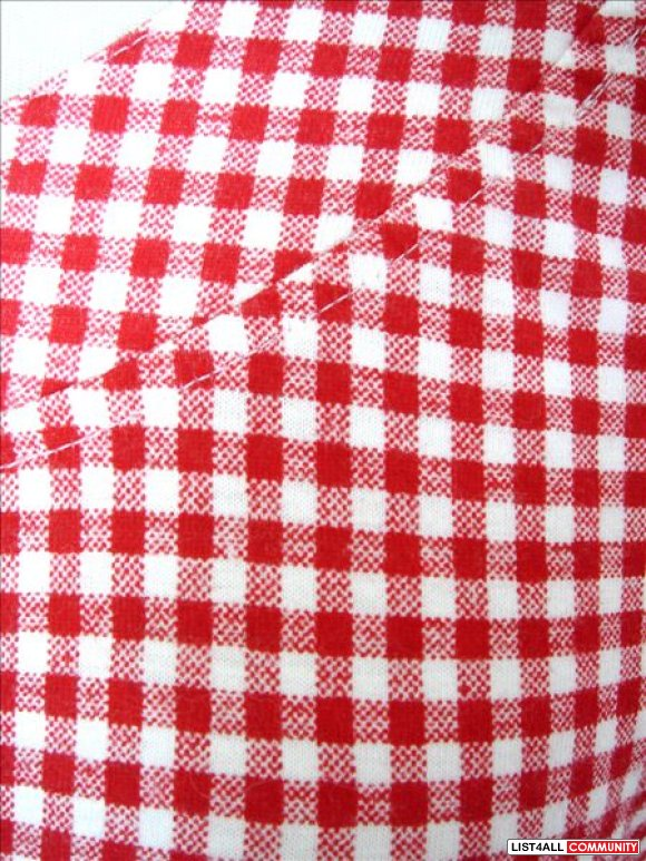 Cotton Ginny - Red / White Checkerboard Long Sleeve Top