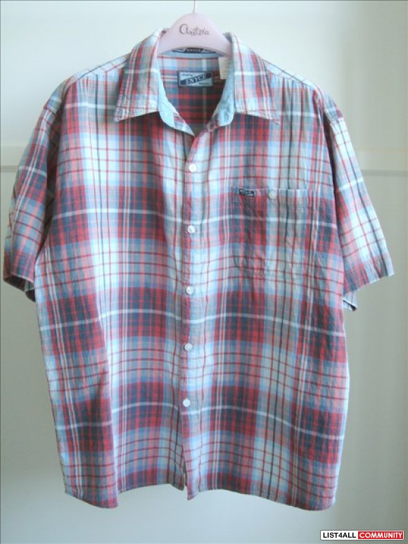 Enyce - Blue/Red Plaid Short Sleeve Shirt