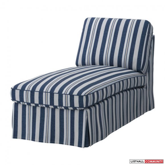 Replacement Cover for Ikea EKTORP Chaise Lounge - Abyn Blue