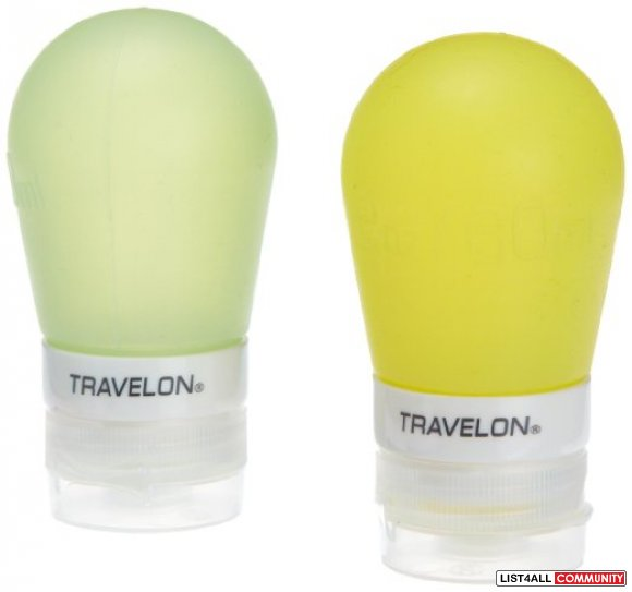 Travelon 2 ounce Smart Tubes (Set of 2) - Green/Yellow
