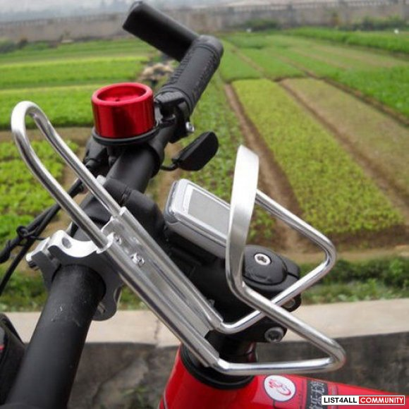 Bicycle Bike Water Bottle Cage with Handlebar Mount - Aluminum