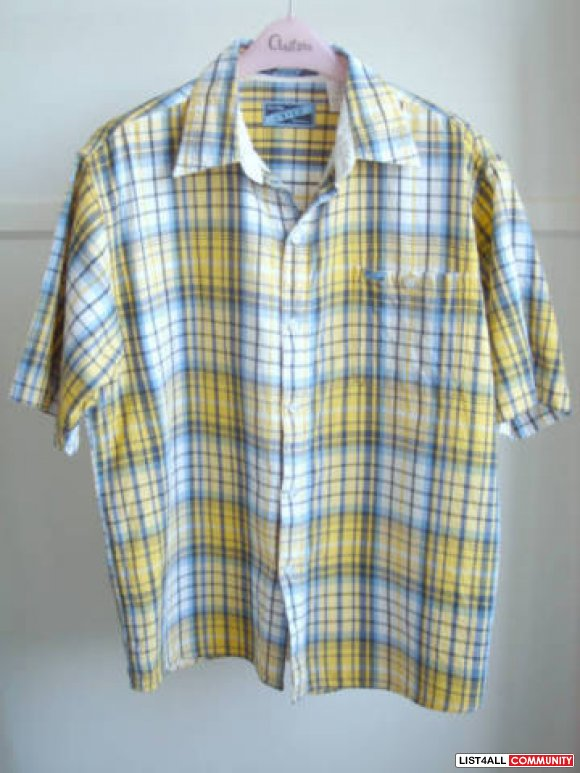 Enyce - Blue/Yellow Plaid Short Sleeve Shirt