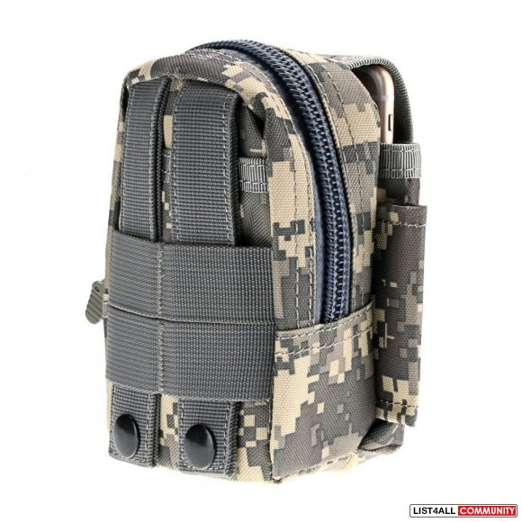 Tactical Military Molle Utility Belt Waist Phone Pouch Bag - Camouflag
