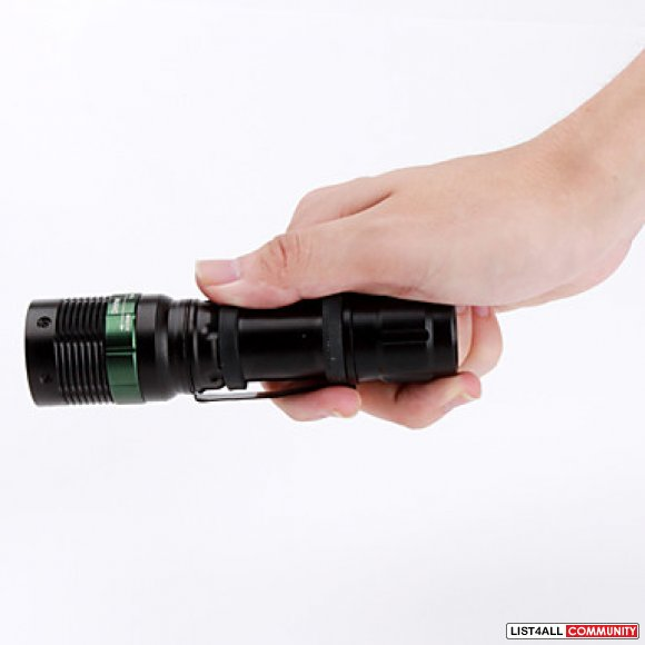 5-Mode CREE XP-E Q5 Zoom LED Flashlight with Clip