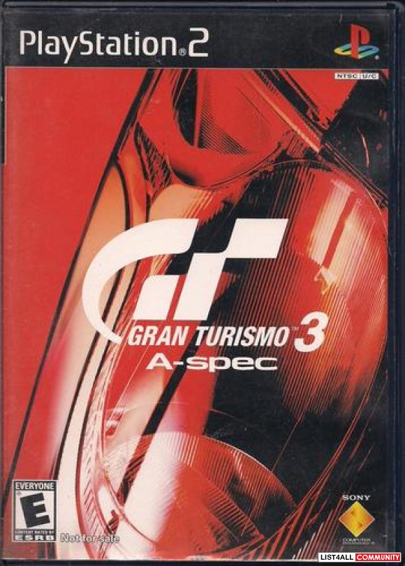 PS2 Game - Gran Turismo 3 A-spec