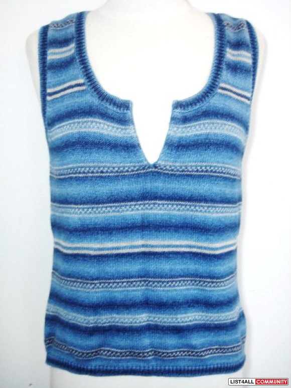 Ralph Lauren - Blue Knit Tank Top / Sleeveless / Cami