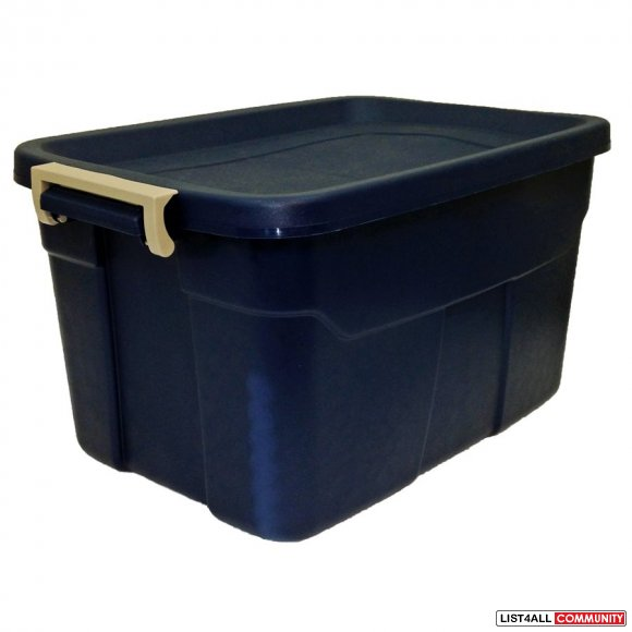 Stacking Tote Storage Box Bin with Latch Closure lid - 53L