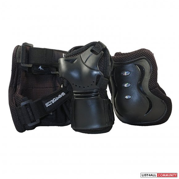 WHIPTIDE Protective Gear Set (Knee, Elbow & Wrist) - L