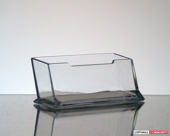 Business Card Holder Display Stand - Clear Acrylic