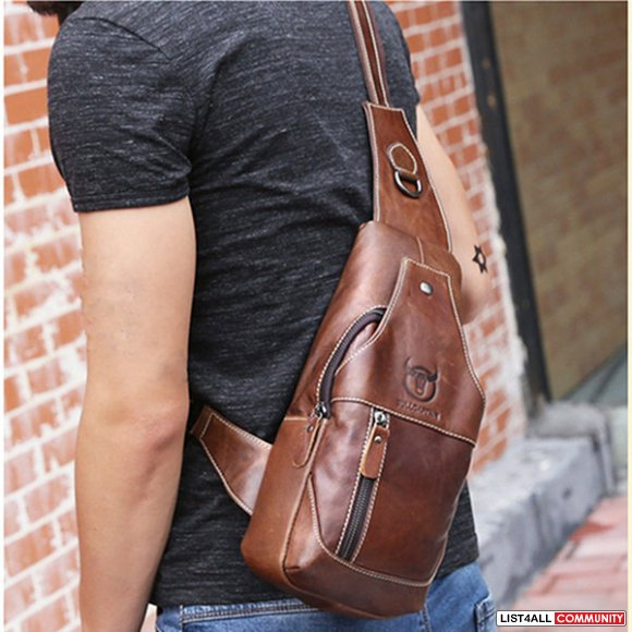 Leather Crossbody Shoulder Sling Bag