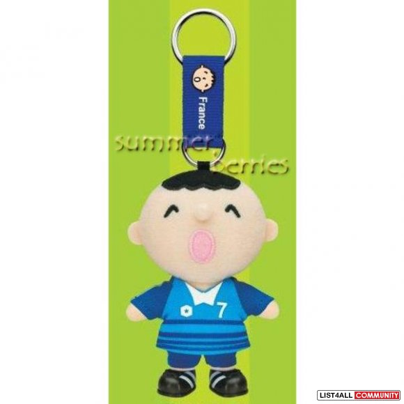 Sanrio minna no tabo 2010 FIFA World Cup Plush Keychain - #7 France