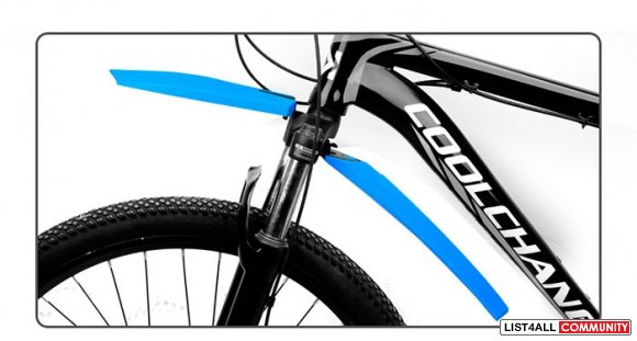 Bicycle Bike Front & Back Fenders Mudguards - Blue