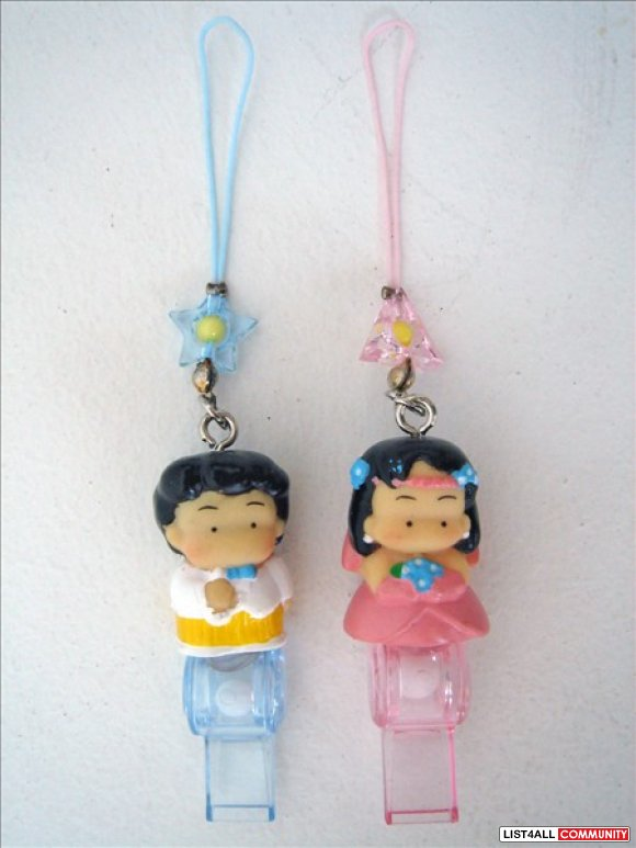 Asian / South Asian / Hispanic Bride & Groom Straps Charms