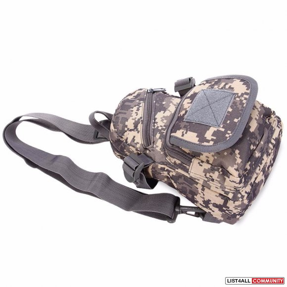 Tactical Military Molle Utility Crossbody Sling Bag - Camouflage