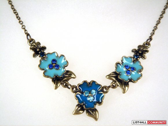 Bronze Finish Flower Necklace (02070335)