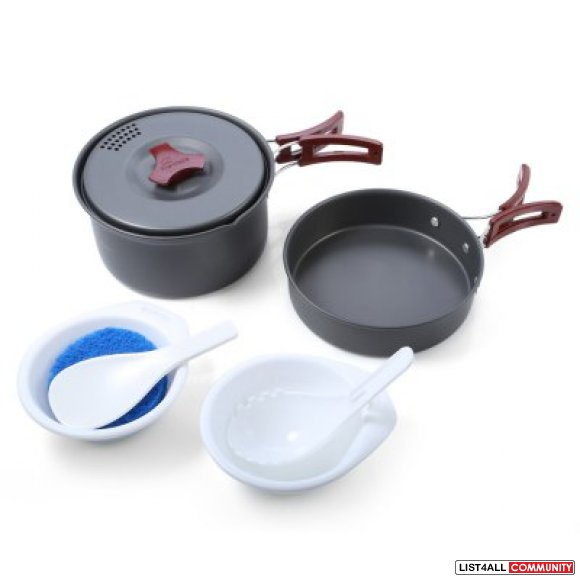 Camping Pot Cookset 9pcs