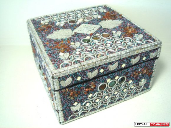 India Ornate Art Jewelry Keepsake Box