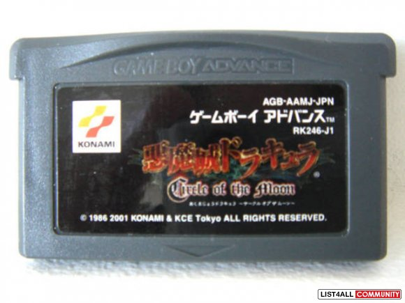 Gameboy Advance Game - Akumajou Dracula: Circle of the Moon (Japanese)