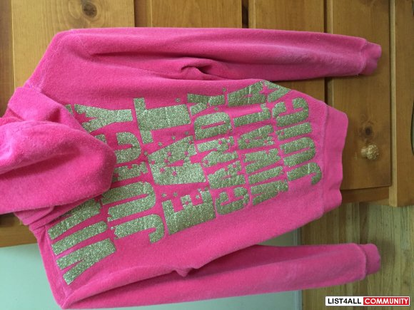 JUICY COUTURE HOT PINK TERRYCLOTH SWEATER, VIVA JUICY, Size SMALL (P)