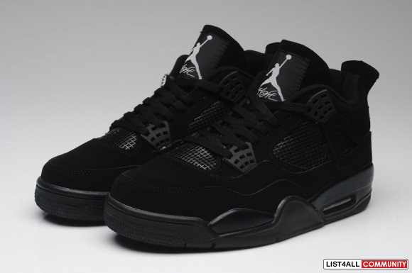 Air Jordan 4 Retro All Black,www.wholesalefetch.com