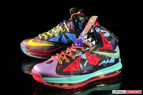 Cheap Lebron 10 MVP Mens Purple Red Yellow Blue,www.wholesalelebron.co