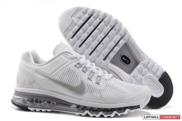 Nike Air Max 2013 Mens Running Shoe White www.airsneakers.org