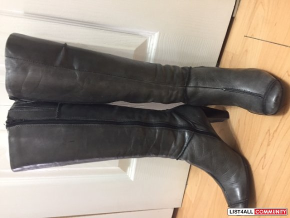 First  Grey woman boots - Made in Romania- size 37 - $35.00