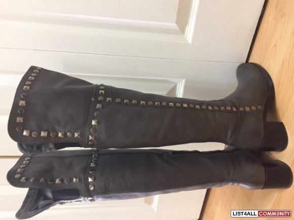 Browns leather over the knee boots - size 36 - made in Italy- $75.00