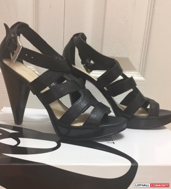 Nine West Black leather high heel - size 6- $35.00