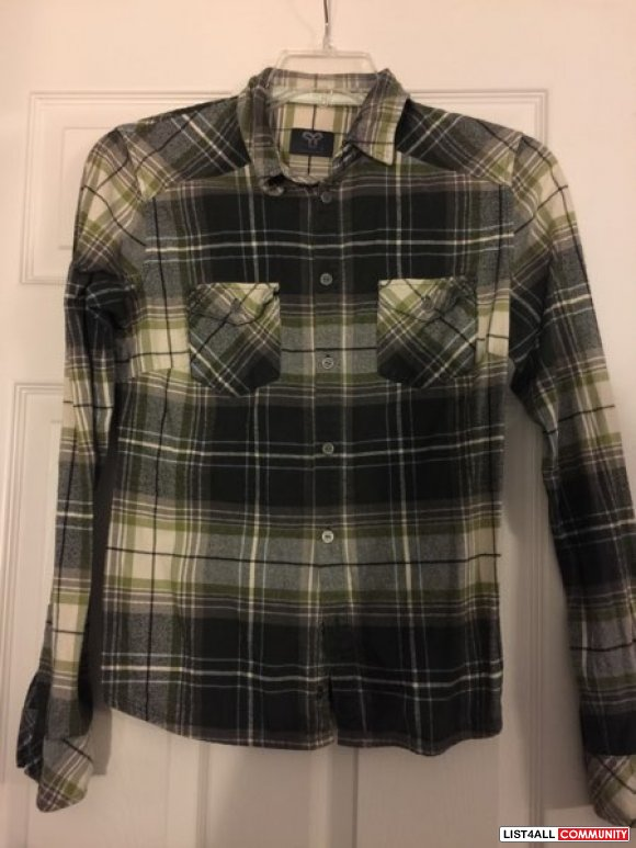 TNA plaid button up