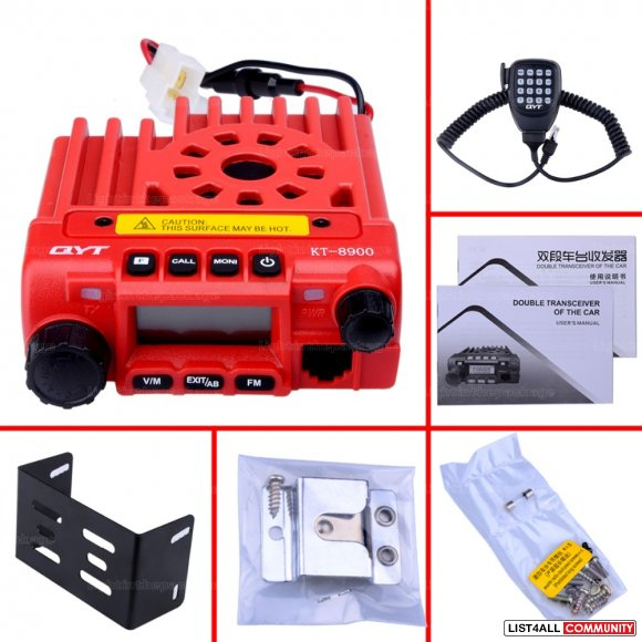 Lots 2pc Red QYT KT-8900 car radio two way radio transceiver emisoras