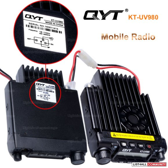 WHOLESALE 10PCS KT-UV980 MOBILE RADIO 65W 200CH MULTIPLE FUNCTION VHF/