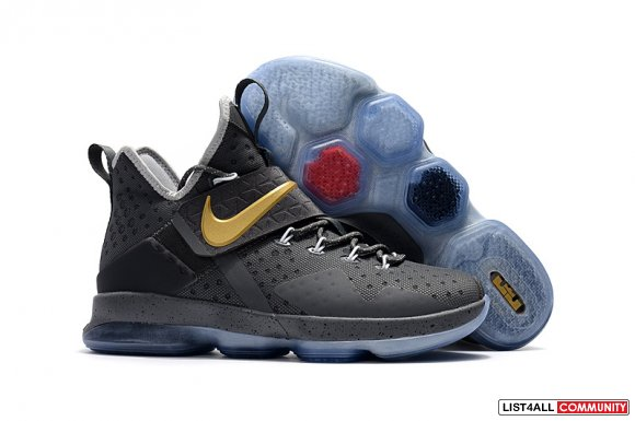 Cheap Nike Lebron 14 Grey Gold,www.kobecheap12.com