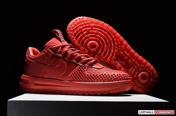 2017 Nike Lunar Force 1 Duckboot Low Red All nikekyrie3bhm.com For Sal