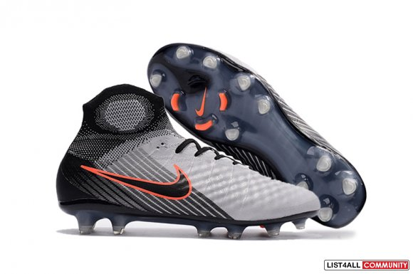 Cheap Nike Magista Obra II FG ACC Grey Orange Black www.soccercp.org