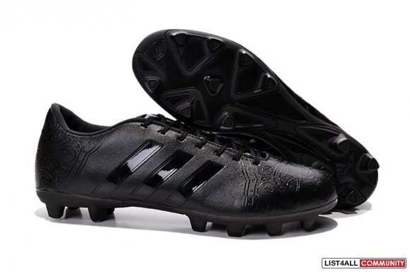 cheap adidas 11Pro Black Pack FG all black www.soccerhightops.com