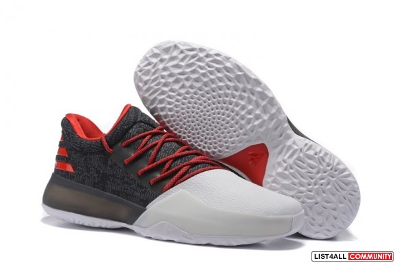 2017 Adidas Harden Vol. 1 Mens Black White Red Basketball Shoe For Sal