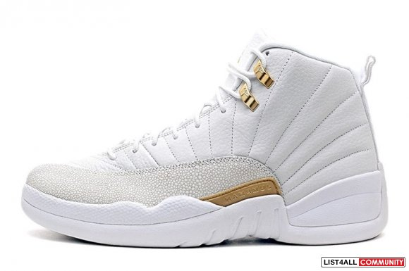 2016-Air-Jordans-12-Retro-OVO-White-Metallic-Gold-Newest-Sale cheapleb